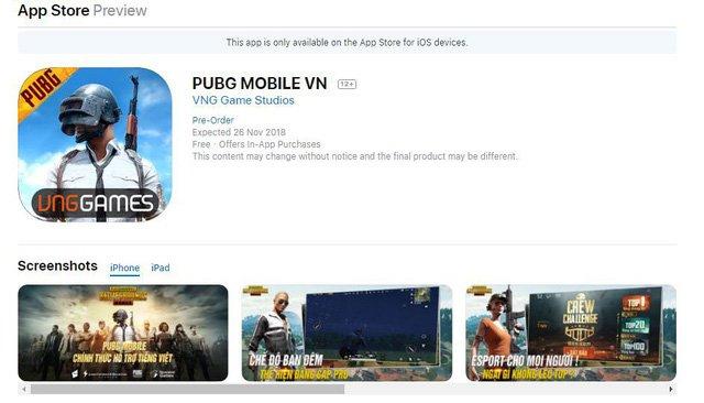 PUBG Mobile phiên bản VNG chính thức lộ diện trên Goolge Play và App Store - Ảnh 3.