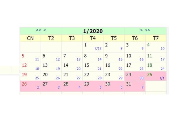 Chính thức chốt phương án lịch nghỉ Tết Nguyên đán Canh Tý 2020 9 ngày
